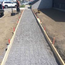 construction of cement layer
