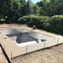 construction of pool